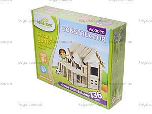 Деревянный конструктор «Дом с балконом», , фото