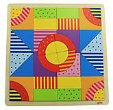 Конструктор деревянный goki «Разноцветный мир», 58661, купить