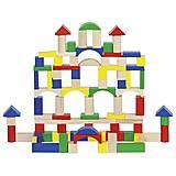 Конструктор деревянный «Строительные блоки» цветной, 58669, интернет магазин22 игрушки Украина