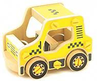 Конструктор деревянный «Такси», Д427, детские игрушки
