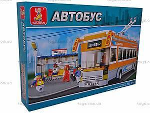 Конструктор детский «Троллейбус», M38-B0332R, цена