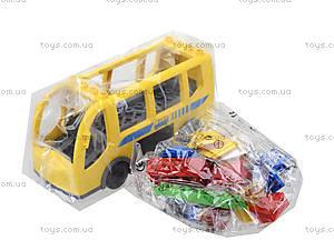 Конструктор детский «Школьный автобус», HG-1271, фото