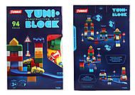 """Конструктор детский """"YUNI-BLOK"""" 94 детали (в коробке), Юника, детские игрушки"""