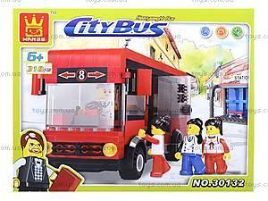 Конструктор для детей «Городской автобус», 30132, отзывы