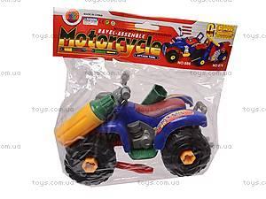 Конструктор для детей «Мотоцикл», 886, детские игрушки