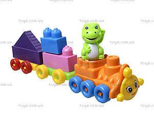 Конструктор для детей «Поезд и два прицепа», 02-408, отзывы