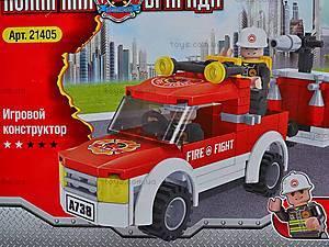 Конструктор для детей «Пожарная машина», 21405, купить