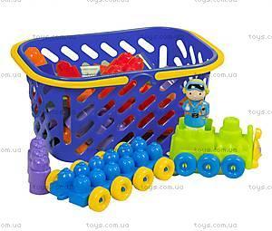 Конструктор для детей в корзинке (в ассортименте), 02-306, детские игрушки