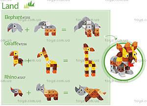 Конструктор Gigo «В мире животных. Носорог», 7257, цена