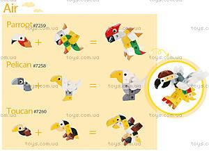 Конструктор Gigo «В мире животных. Тукан», 7260, цена