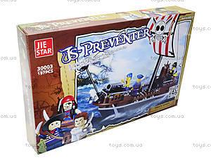 Конструктор для детей «Пиратский корабль», 197 деталей, 30003, купить