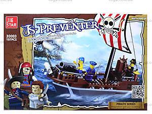 Конструктор для детей «Пиратский корабль», 197 деталей, 30003, фото