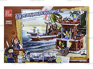 Конструктор для детей «Пиратский штаб», 431 деталь, 30007, фото