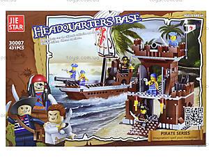 Конструктор для детей «Пиратский штаб», 431 деталь, 30007, отзывы