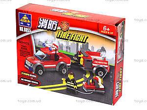 Конструктор Kazi «Пожарная техника», 143 деталей, 8055, купить