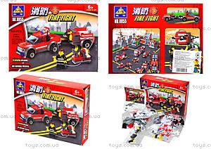 Конструктор Kazi «Пожарная техника», 143 деталей, 8055