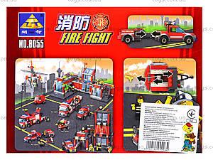 Конструктор Kazi «Пожарная техника», 143 деталей, 8055, отзывы