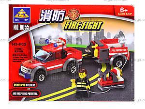 Конструктор Kazi «Пожарная техника», 143 деталей, 8055, цена