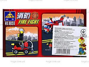 Конструктор Kazi «Пожарная техника», 57 деталей, 8059, купить