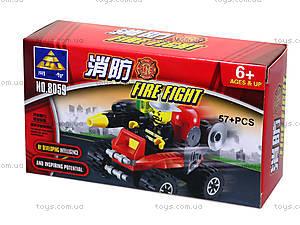 Конструктор Kazi «Пожарная техника», 57 деталей, 8059, отзывы