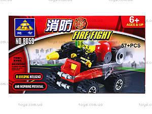 Конструктор Kazi «Пожарная техника», 57 деталей, 8059, цена
