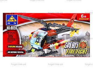 Конструктор Kazi «Пожарный вертолет», 83 детали, 8056, цена
