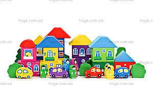 Большой деревянный конструктор «Разноцветный город», 8688-8