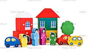 Конструктор из дерева «Цветной городок», зеленый, 8688-4