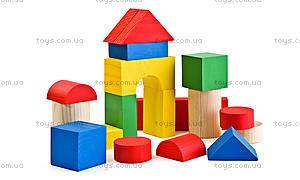 Деревянные кубики «Цветные», 26 деталей, 6678-26