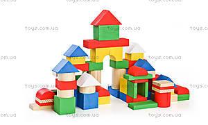 Кубики деревянные «Разноцветные», 65 деталей, 6678-65