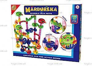 Конструктор-лабиринт с шариками Marbureka, 105 частей, 25308