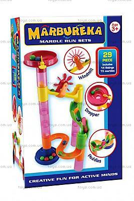 Конструктор-лабиринт с шариками Marbureka, 29 частей, 25339