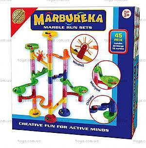 Конструктор-лабиринт с шариками Marbureka, 45 частей, 25322