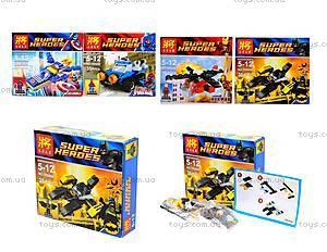 Детский конструктор Super Heroes, 4 вида, 78040