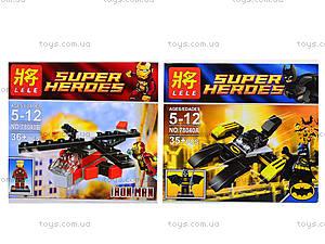 Детский конструктор Super Heroes, 4 вида, 78040, отзывы