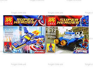 Детский конструктор Super Heroes, 4 вида, 78040, цена