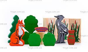 Набор деревянных кубиков «Лиса и журавль», 4534-10