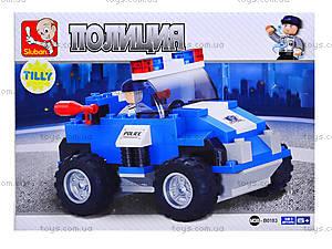 Конструктор детский «Полиция», 121 деталей, M38-B0183B0185, цена