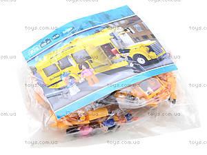 Детский конструктор «Школьный автобус», 218 деталей, M38-B0507, фото