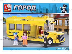 Детский конструктор «Школьный автобус», 218 деталей, M38-B0507, цена