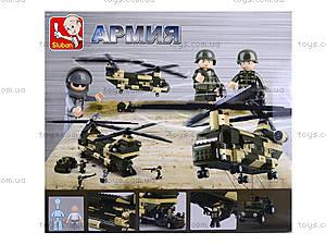 Детский конструктор «Военный вертолет», M38-B0508, игрушки