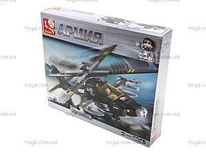 Детский конструктор «Военный вертолет», 230 деталей, M38-B0511, игрушки