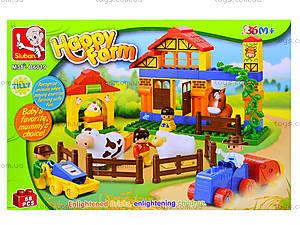Детский конструктор «Ферма», 68 деталей, M38-B6019, цена
