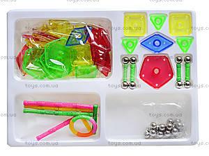 Конструктор магнитный для детей, 108 деталей, AQ-124, фото