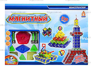 Конструктор магнитный для детей, 108 деталей, AQ-124, цена