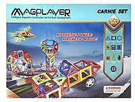 Конструктор Magplayer магнитный набор 72 элементов, MPB-72, фото