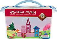 Конструктор Magplayer магнитный набор 86 элементов, MPT-86, интернет магазин22 игрушки Украина