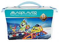 Конструктор Magplayer магнитный набор 88 элементов, MPT-88, фото