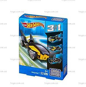 Конструктор Mega Bloks «Машинка Hot Wheels 3 в 1», CNF33, цена