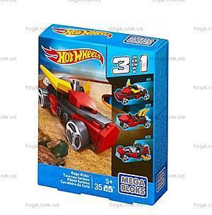 Конструктор Mega Bloks «Машинка Hot Wheels 3 в 1», CNF33, игрушки